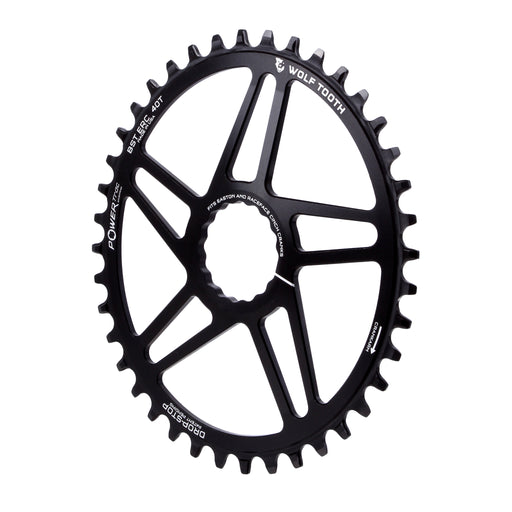 Wolf Tooth Components Powertrac Elliptical Drop-Stop Chainring: 40T Easton
