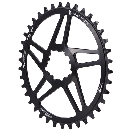Wolf Tooth Components Powertrac Elliptical Drop-Stop Chainring: 38T SRAM