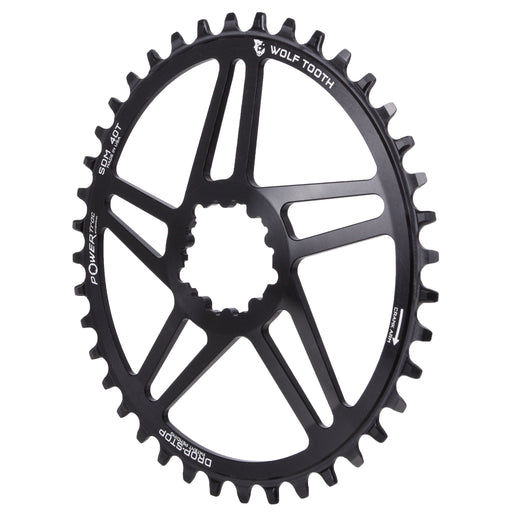 Wolf Tooth Components Powertrac Elliptical Drop-Stop Chainring: 40T SRAM