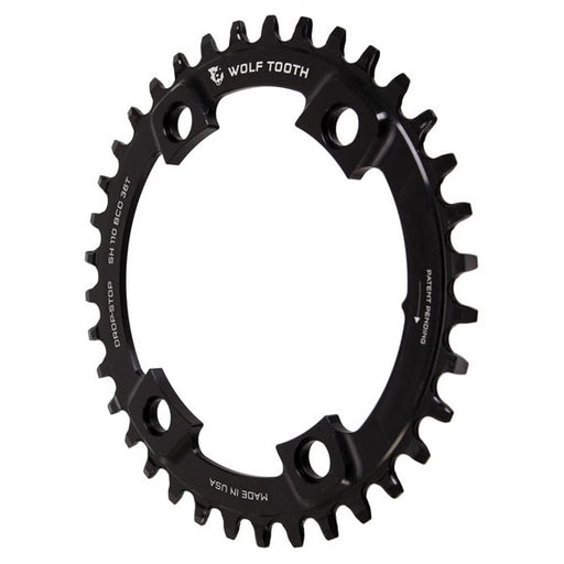 Wolf Tooth Components Drop-Stop Chainring: 36T x Shimano Asymmetric 110