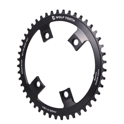 Wolf Tooth Components Drop-Stop Chainring: 46T x 110 Shimano Asymmetric