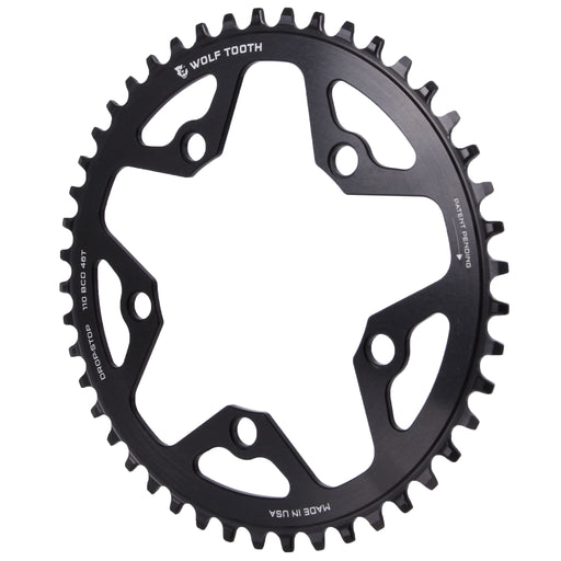 Wolf Tooth Components CX/Gravel chainring, 110BCD 46T - black