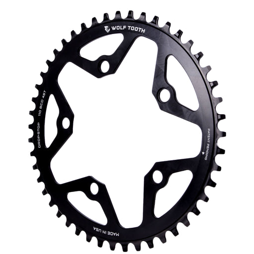 Wolf Tooth Components CX/Gravel chainring, 110BCD 48T - black