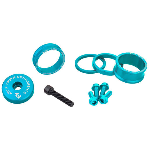 Wolf Tooth Components Anodized Bling Kit - Teal