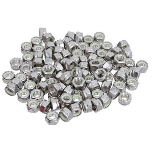 Wheels Manufacturing M5 Nylock Hex Nut Stainless Steel Bottle/100