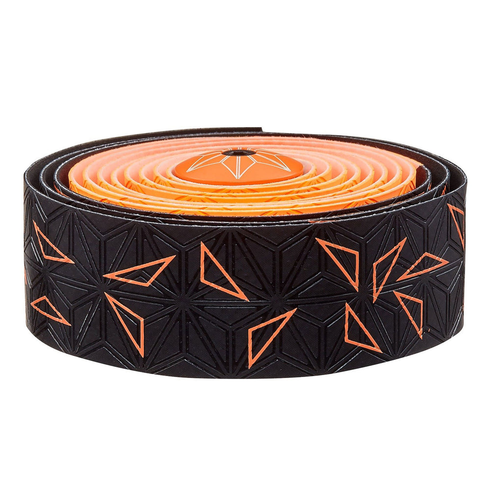 Supacaz Super Sticky Kush bar tape, Starfade black and orange