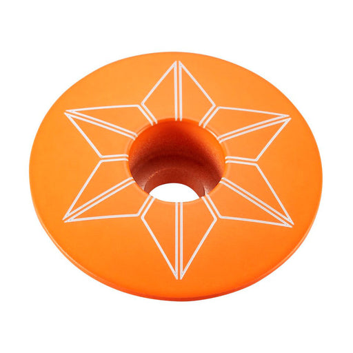 Supacaz Neon Orange Star Cap