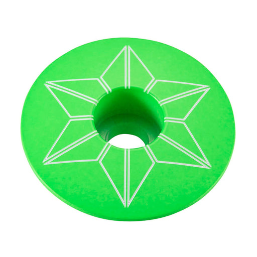 Supacaz Neon Green Star Cap