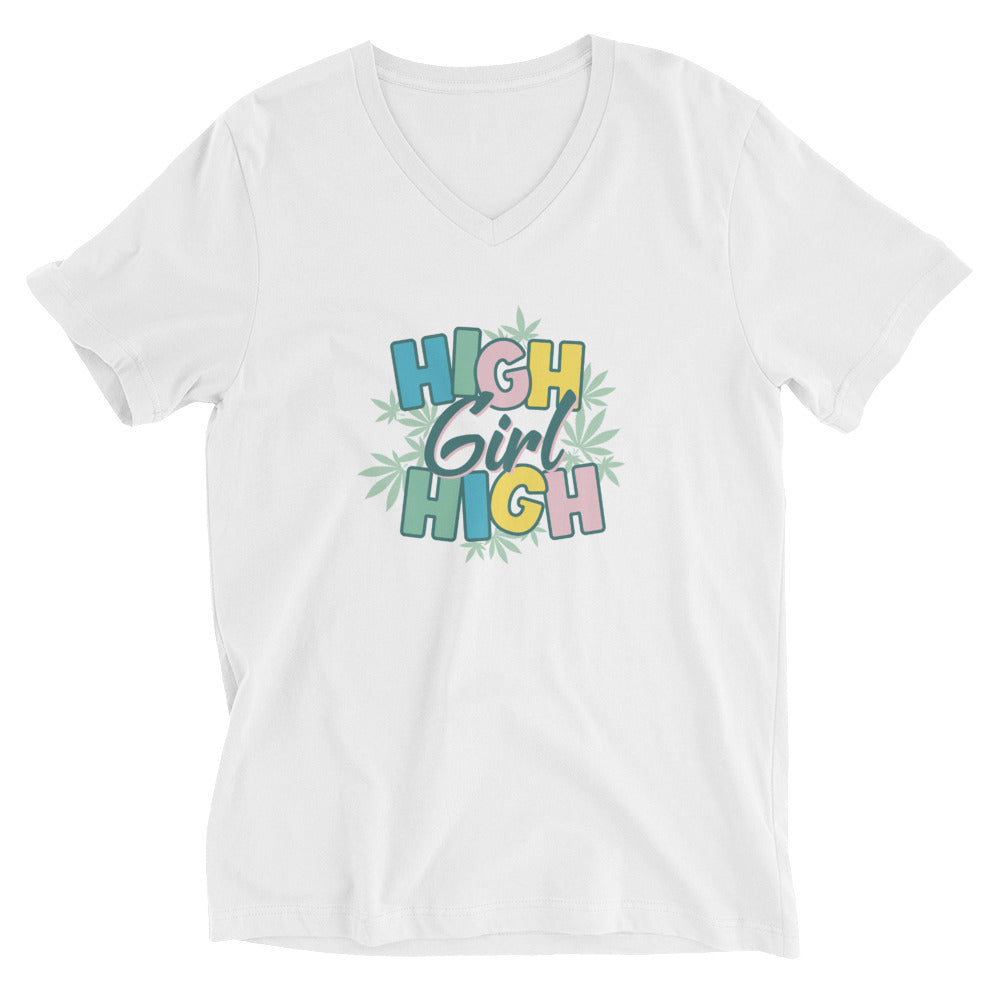 High Girl High Yellow V-Neck T-Shirt
