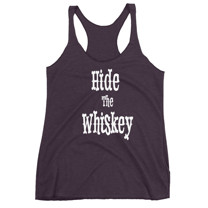 Hide The Whiskey Racerback Tank