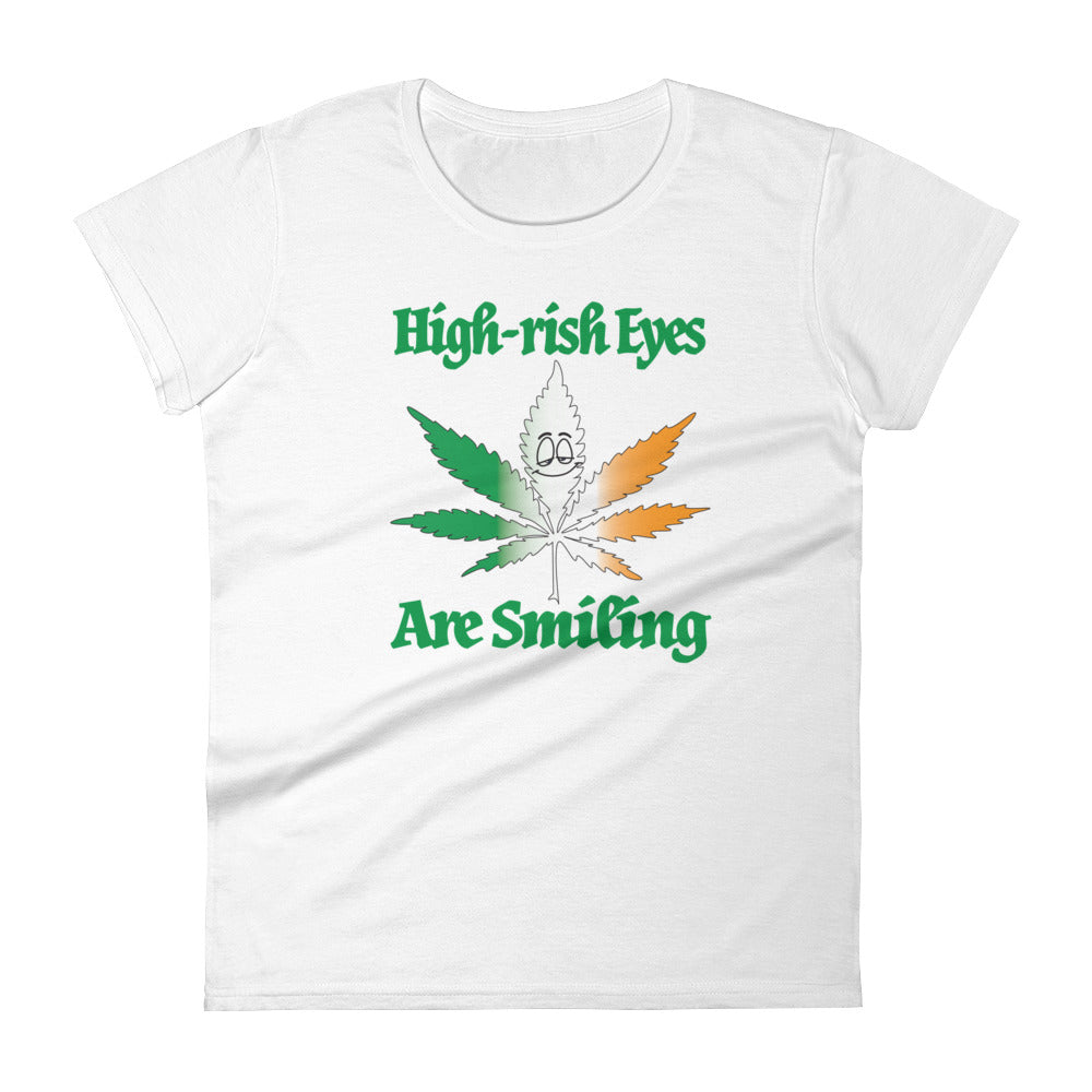 Women's High-rish Eyes Are Smiling short sleeve t-shirt