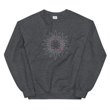 Load image into Gallery viewer, Fell the Joy! Grey Wreath Unisex Sweatshirt