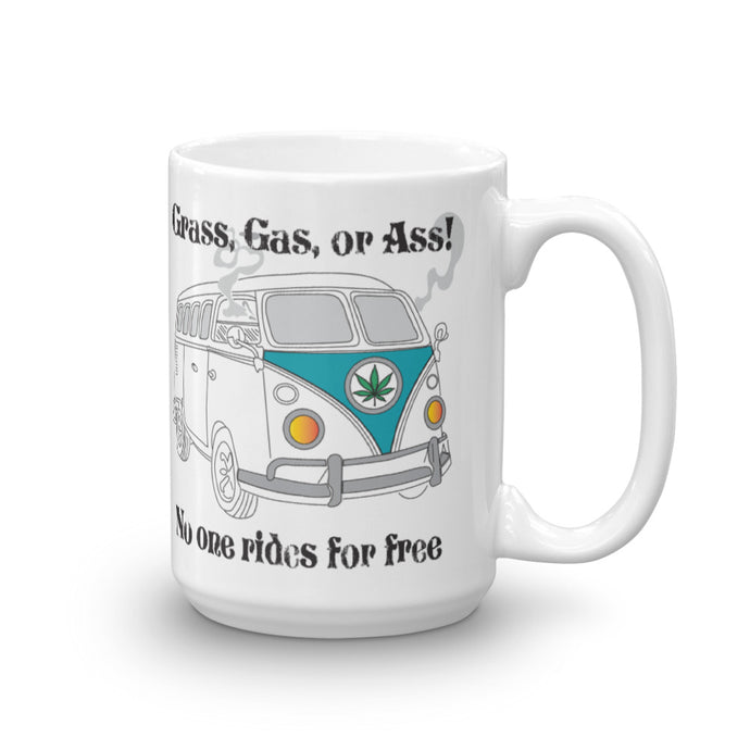 CannaBus Grass, Gas, or Ass 15 oz Mug