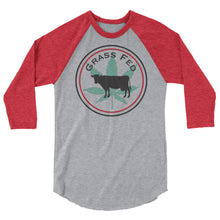 Load image into Gallery viewer, Grass Fed 3/4 sleeve raglan