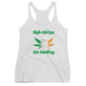 Women's High-rish Eyes Are Smiling Racerback Tank