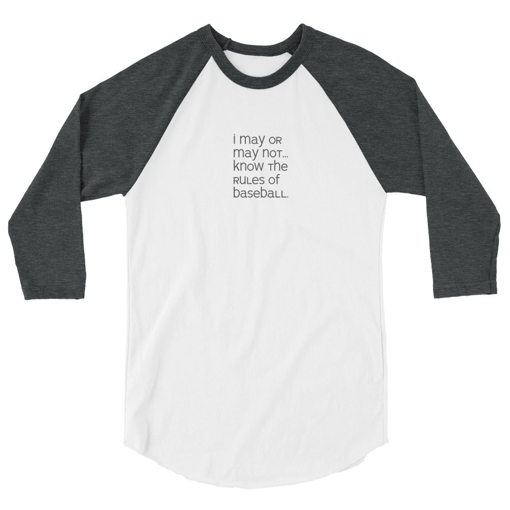 Rules of Baseball 3/4 Raglan