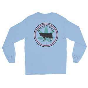 Grass Fed, Back Logo Long Sleeve Tee