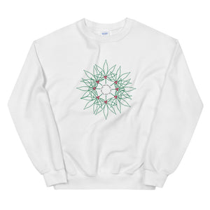 Feel the Joy! Green Wreath Unisex Sweatshirt