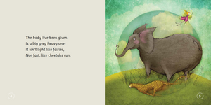 THE ELEPHANT WHO TRIED TO TIPTOE, Reminding children to love the body they have.