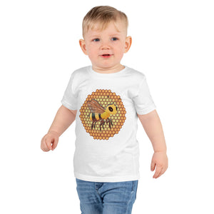 Bee Happy: Short sleeve kids t-shirt