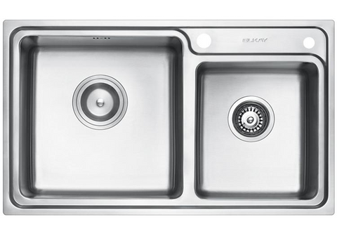 ELKAY - EC-32213 Double-Bowl Stainless Steel Sink