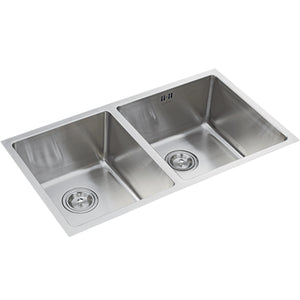 ELKAY - EC-22102U Double-Bowl Stainless Steel Sink