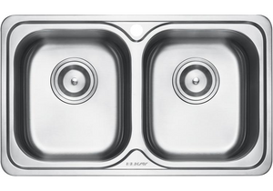 ELKAY - EC-42105 Double-Bowl Stainless Steel Sink