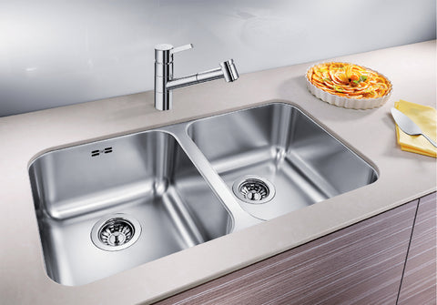 BLANCO - SUPRA 340/340-U Double-Bowl Stainless Steel Sink