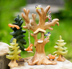 wooden birds tree