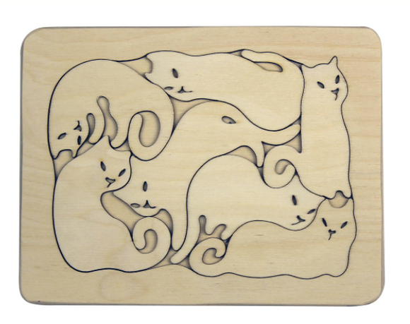 Wooden Cats Puzzle