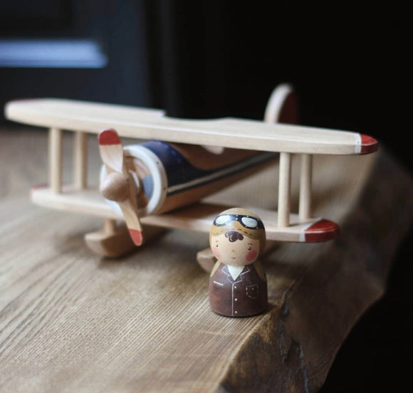 Gnezdo Wooden Airplane