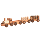 "Handmade Wooden Toy Train Play Set, 23"" Long - poppybaby"