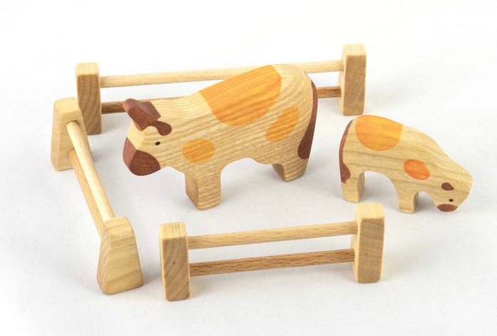 Wooden animal fence for pretend play