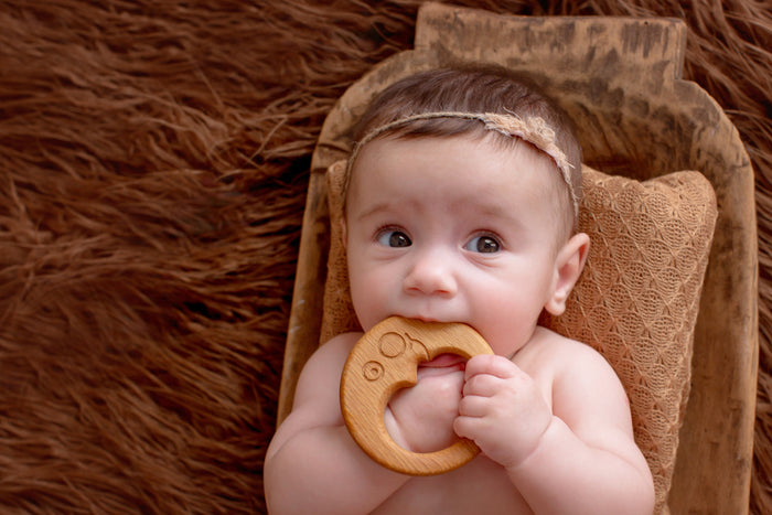 Organic Wooden Teether toy Moon