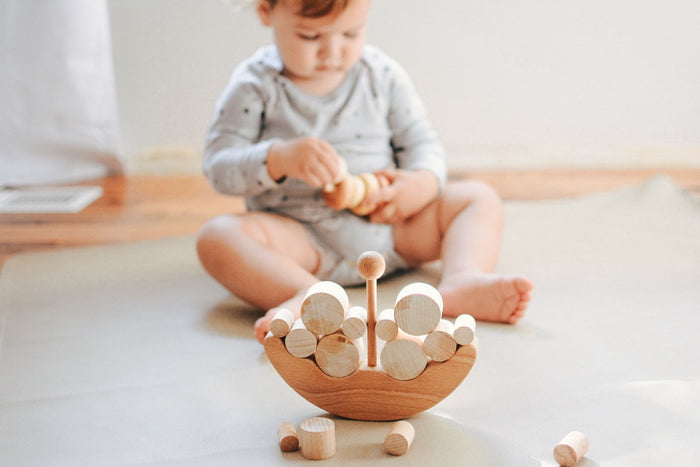 Wooden Ship Balancing toy - PoppyBabyCo
