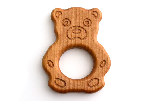 Organic Wooden Teether toy Bear
