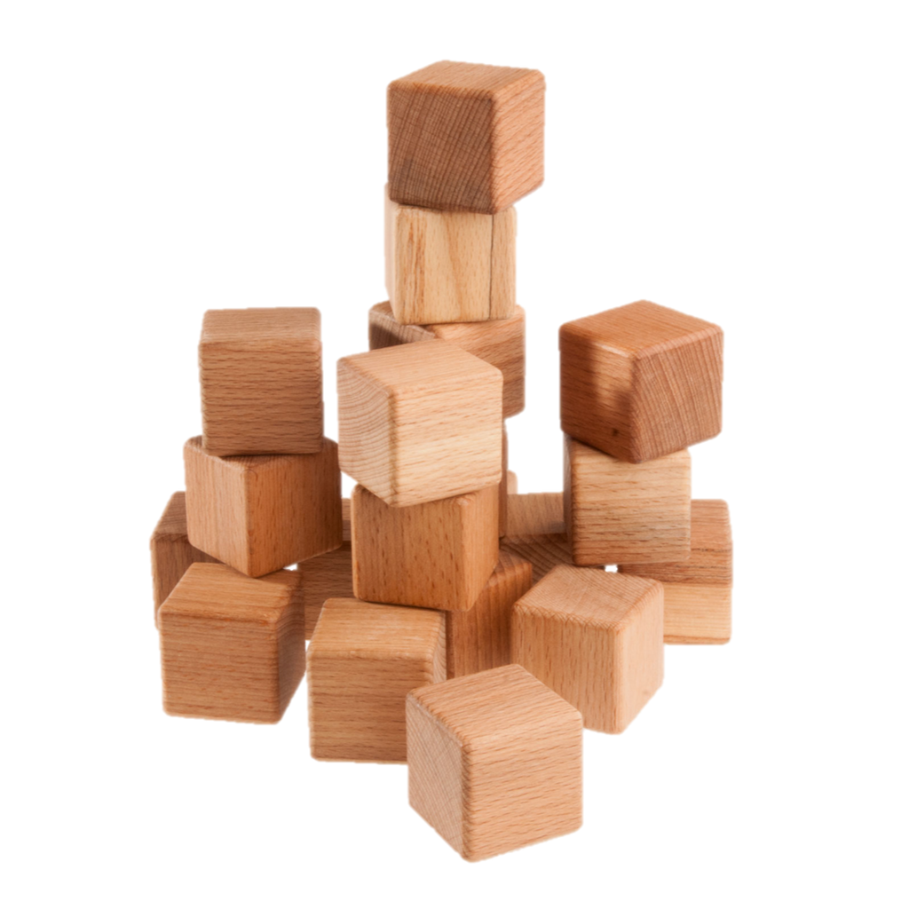 Classic Wooden Blocks for toddlers, 20- pieces - poppybaby