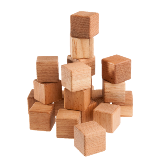 Classic Wooden Blocks for toddlers, 20- pieces - PoppyBabyCo