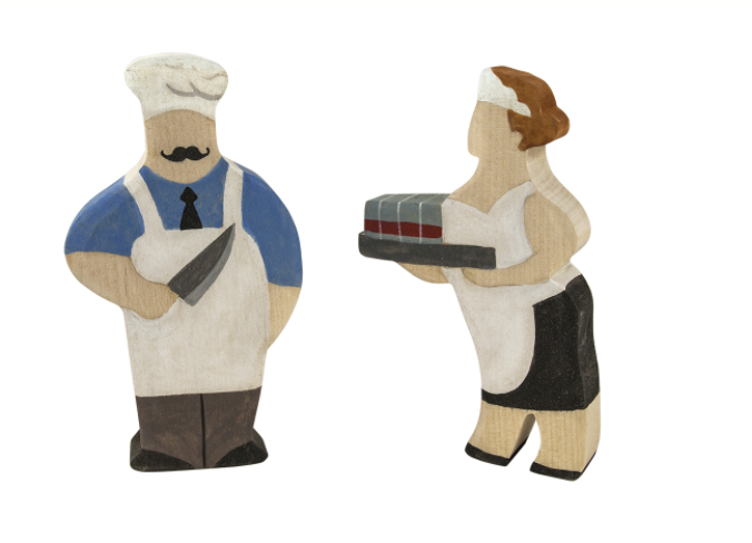 Wooden Figurines Toys Professionals set of 23