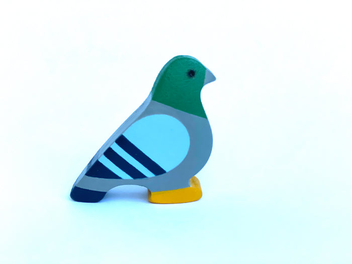 Wooden Small Dove Figurine