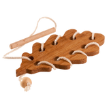 Wooden Lacing Oak Leaf Threading Toy - poppybaby