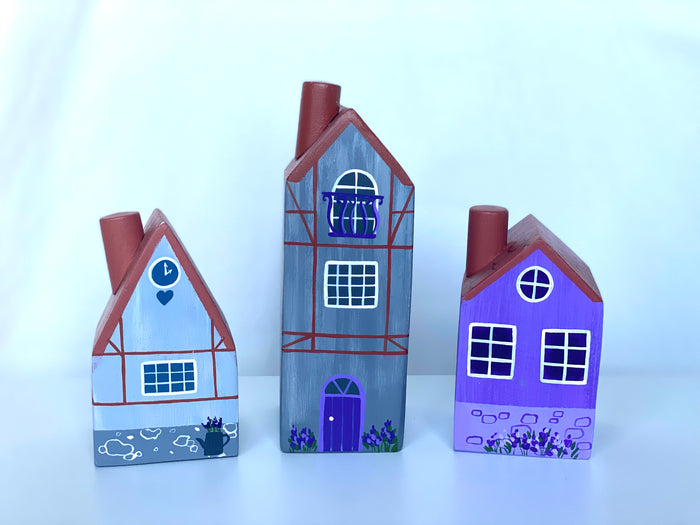 Wooden French Lavender Village Houses
