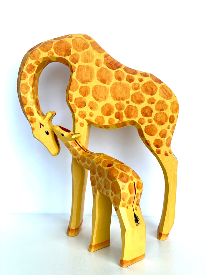Tall Wooden Giraffe Toy set of 2