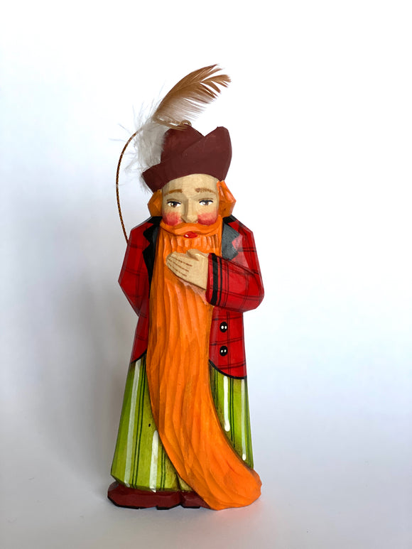 Hand-carved Wooden Christmas Ornament figurine