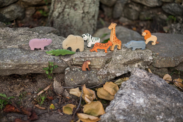 Waldorf African Safari Set of 9 Animals painted