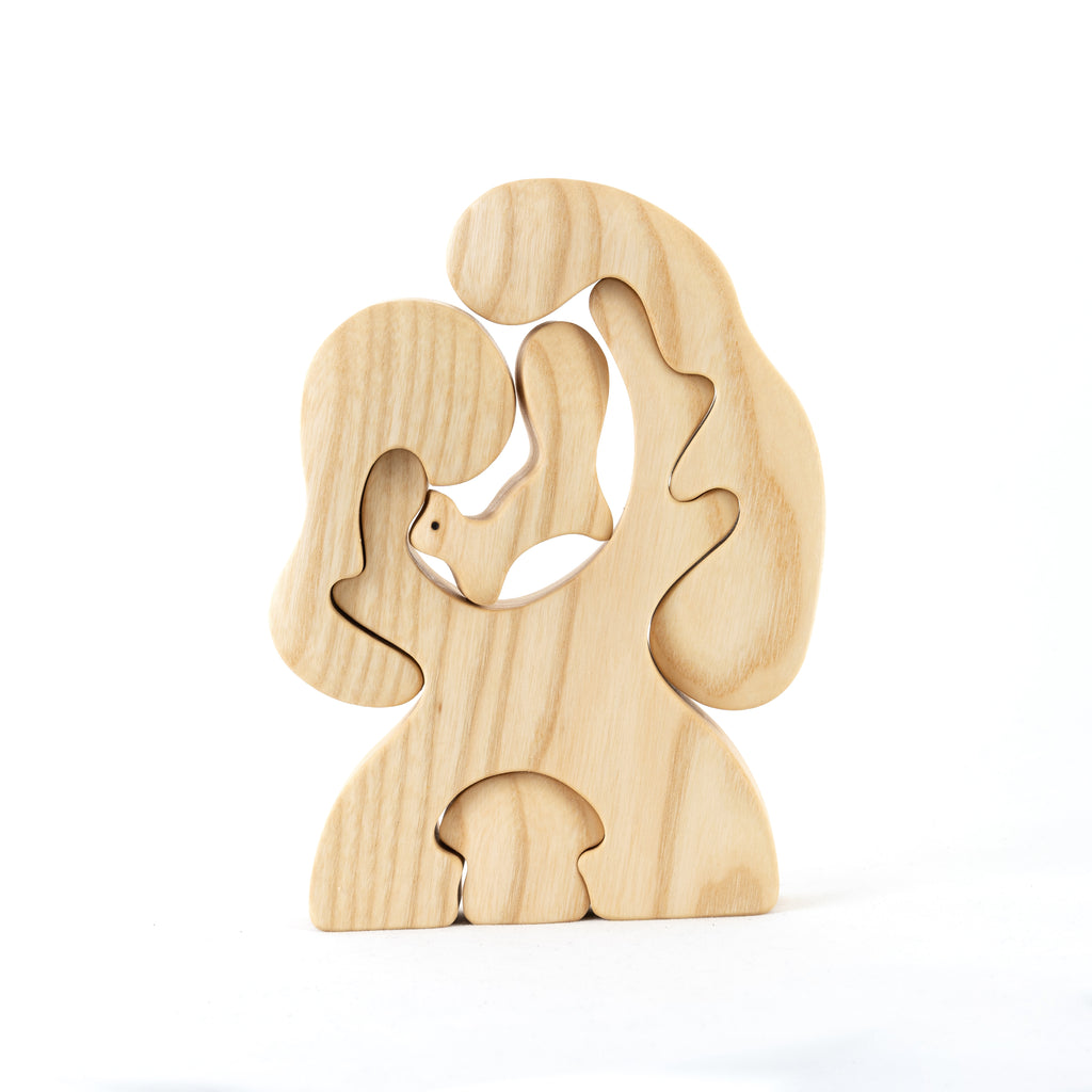 Natural Tree with Fox and mushroom Puzzle - PoppyBabyCo