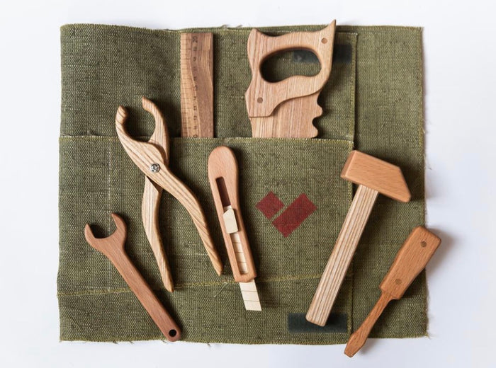 Wooden Tool Kit For Toddlers