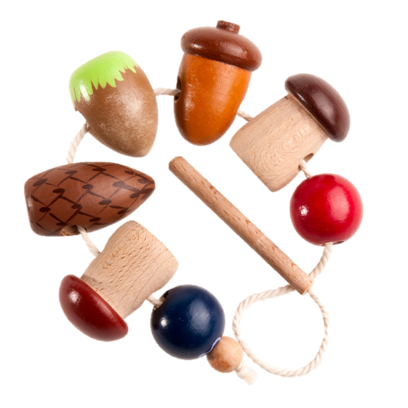 Wooden Variety Lacing toy - poppybaby