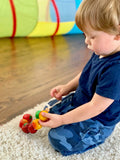 Wooden Apples 4 sorts Lacing toy - poppybaby