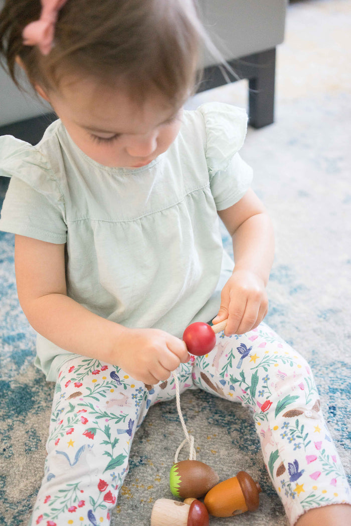 Wooden Variety Lacing toy - PoppyBabyCo